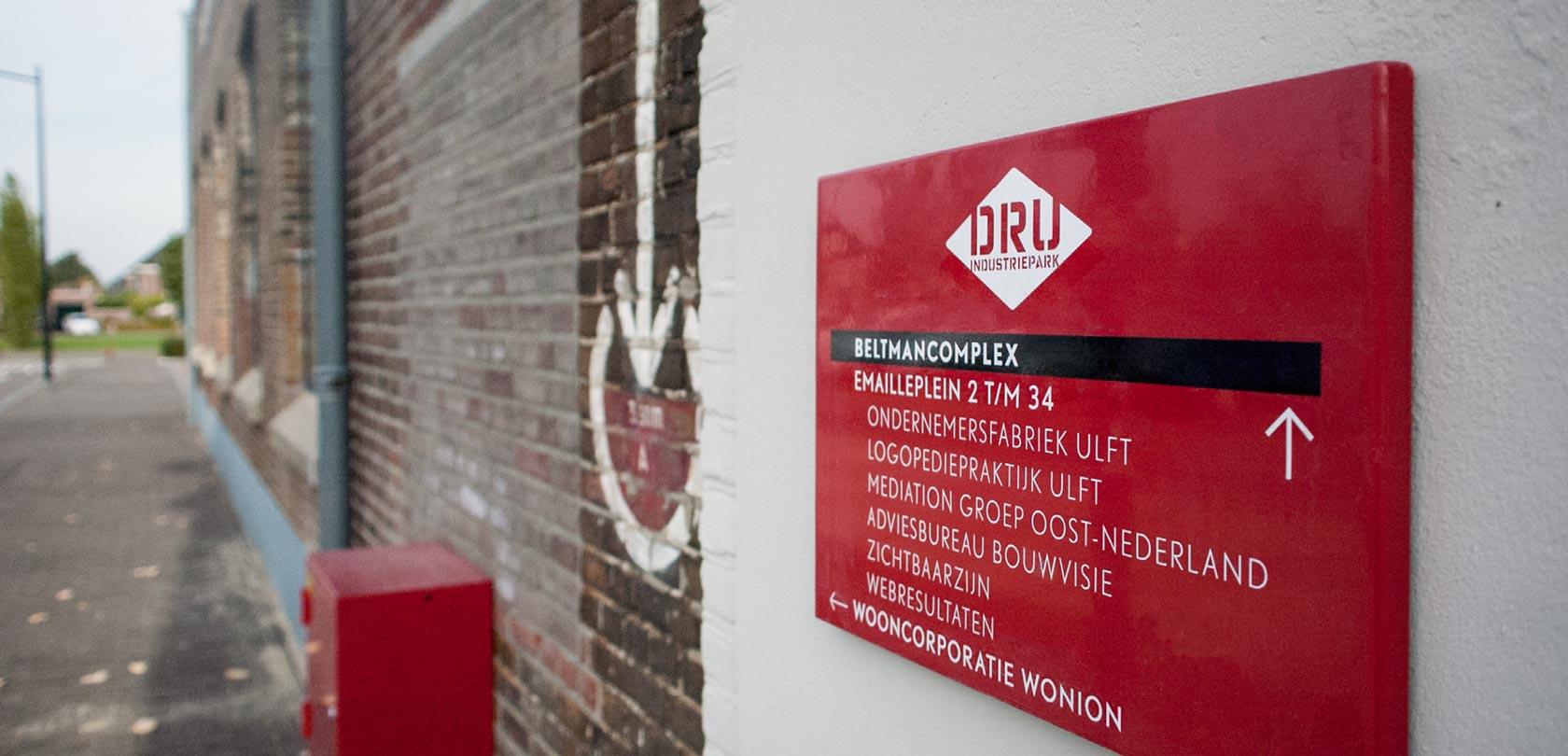 Bewegwijzering DRU Industriepark - design: ontwerpbureau VA