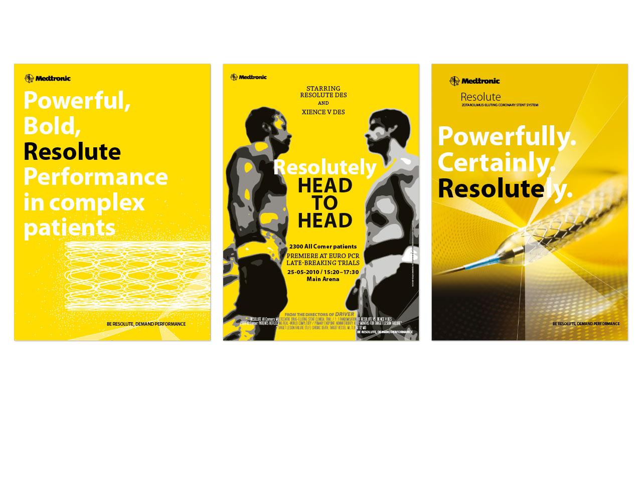 Medtronic Resolute campagne - design: ontwerpbureau VA