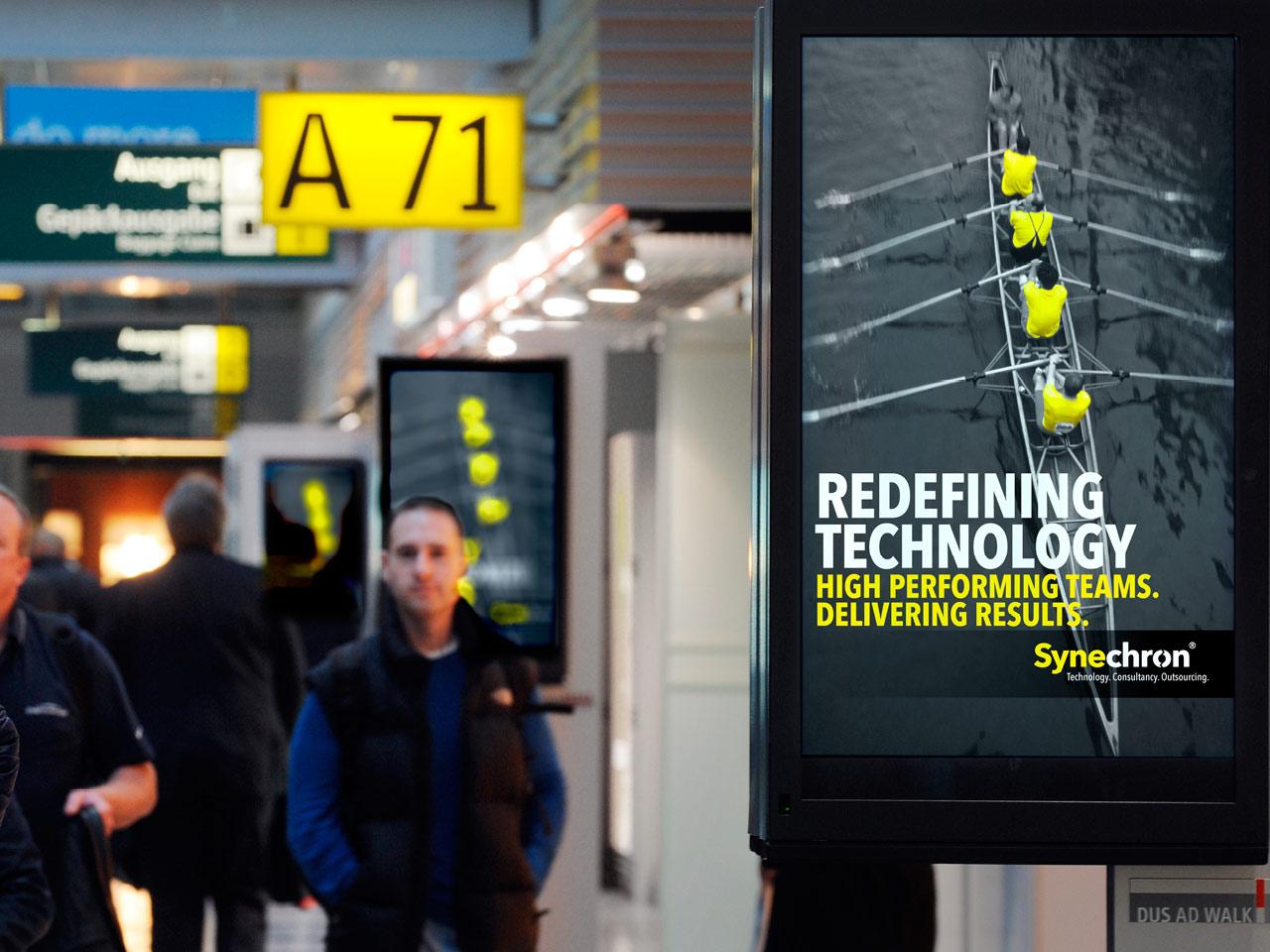 Synechron billboard campagne - design: ontwerpbureau VA